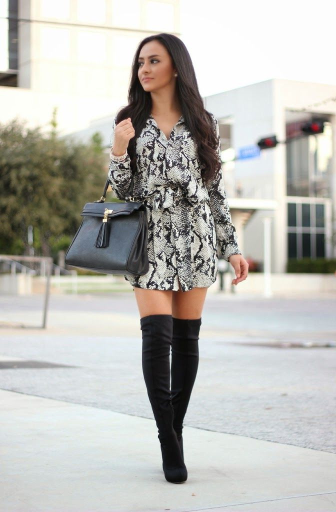 Black Dresses That Go With Boots
