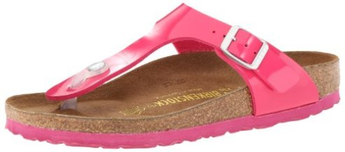 Best Walking Sandal For Travel Europe Summer AsiaBirkenstock Women's Gizeh Flat,Pink Patent