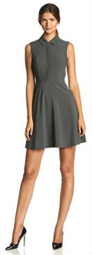 Vince Camuto Women's Sleeveless A-Line Collared Dress