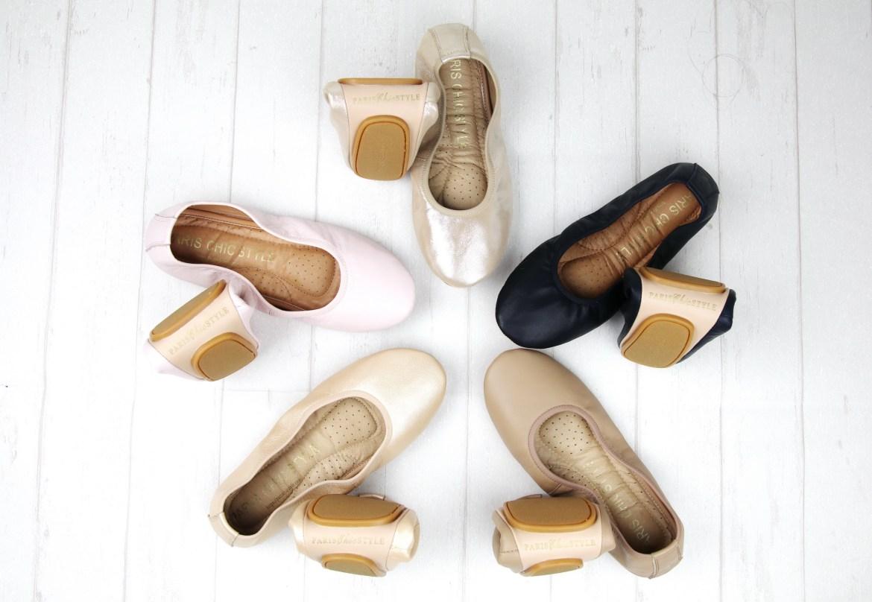1 Paris Chic Style Foldable Ballet Flats Thin Elastics