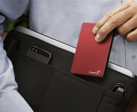 Travel Gifts For Men Seagate Backup Plus Slim 2TB Portable External Hard Drive with Mobile Device Backup USB 3.0