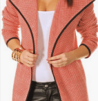 Peach Cardigan Coat Jacket What To Wear in Europe Autumn