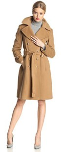 Types Of Coats Anne Klein Women's Double Breasted Cashmere Wool Coat, Camel