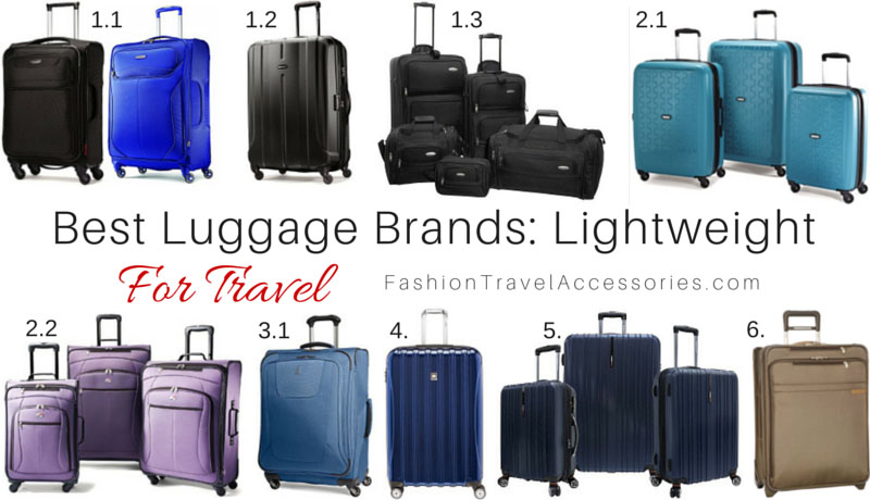 Best Luggage Brands For Travel Lightweight  Expandable