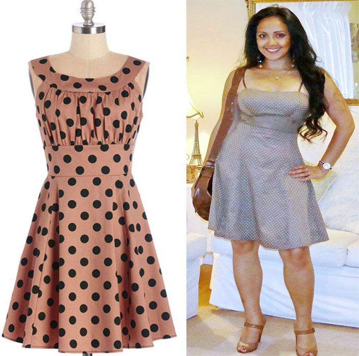 What_should_I_wear_today_Everyday_Fashion_Outfit_of_the_day_Brown_Polka_Dot_Dress_3
