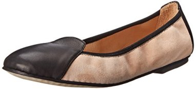 Aquatalia by Marvin K. Women's Zoey Ballet Flat, Black:Blush Combo