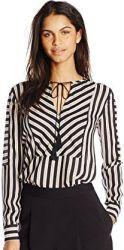 5 Spring Paris Top Rachel Zoe Women's Mairi Tassel Stripe Blouse