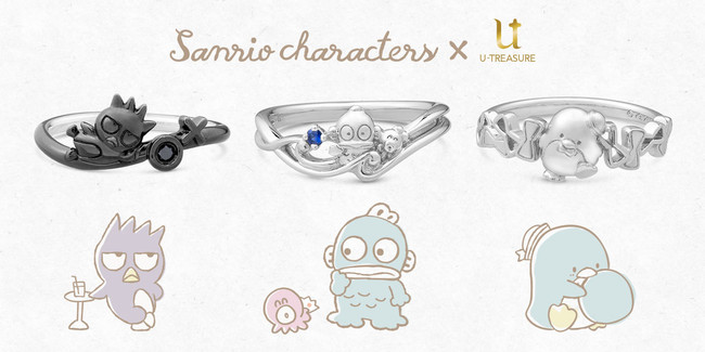 【サンリオキャラクターズ】3日連続 新作 第3弾。3日目は、蝶ネクタイを持つタキシードサムのリング(指輪)。7月8日(木)発売