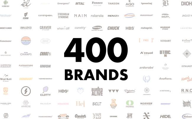 出店ブランド数が400を突破!アジアから日本未上陸ブランドが集まるオンラインストア「60%」(シックスティーパーセント)への出店ブランドが400を突破しました!