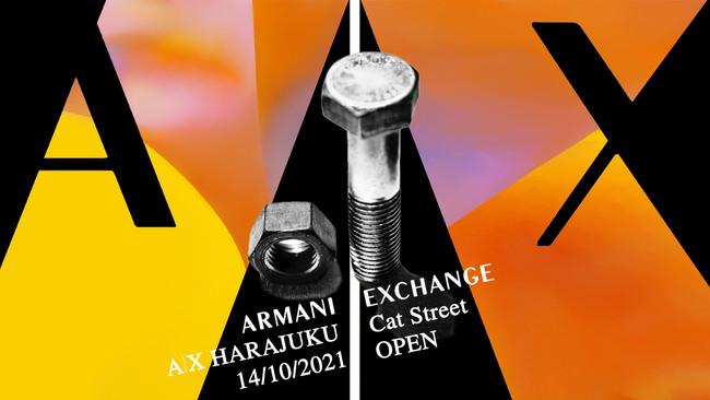 【A|X アルマーニ エクスチェンジ】世界初のコンセプトストア「A|X HARAJUKU Cat Street」が10月14日(木)、原宿・キャットストリートにオープン。