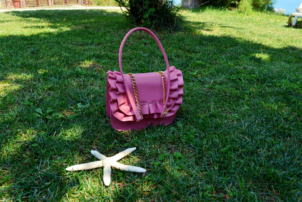 Seaside outfit pink summer bag EFORIE NORD SEA STAR