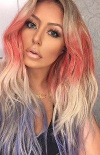 Aubrey O'Day Rocks U.S. Flag-Inspired Hair Colors for July ...