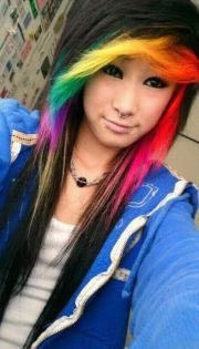 rainbow bangs totally