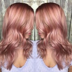 24 Rose Gold Hair Color Variations To Take To Your