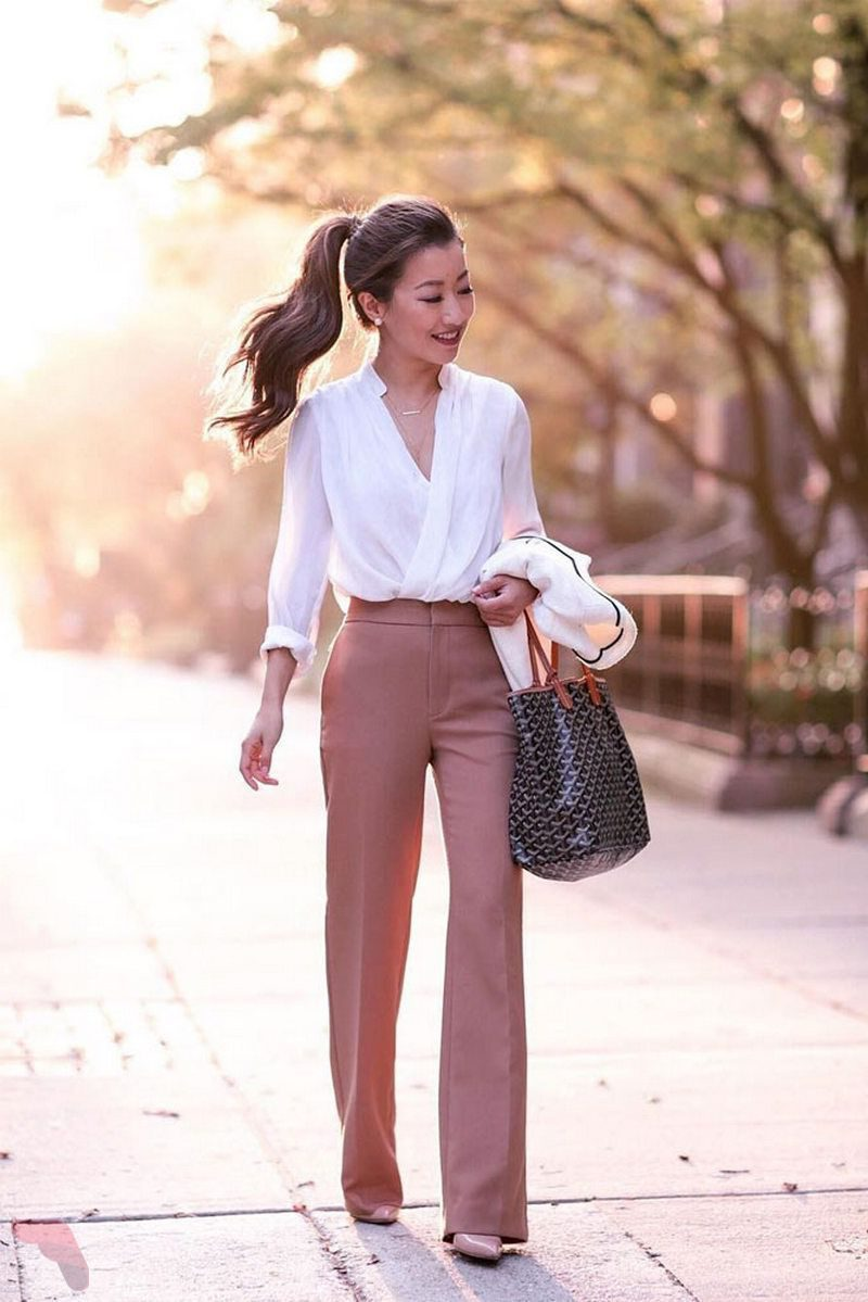 pink office clothing for
