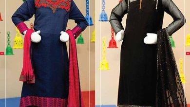 Angrakha Style Eid Kids Wear Dresses By Junaid Jamshed 2015