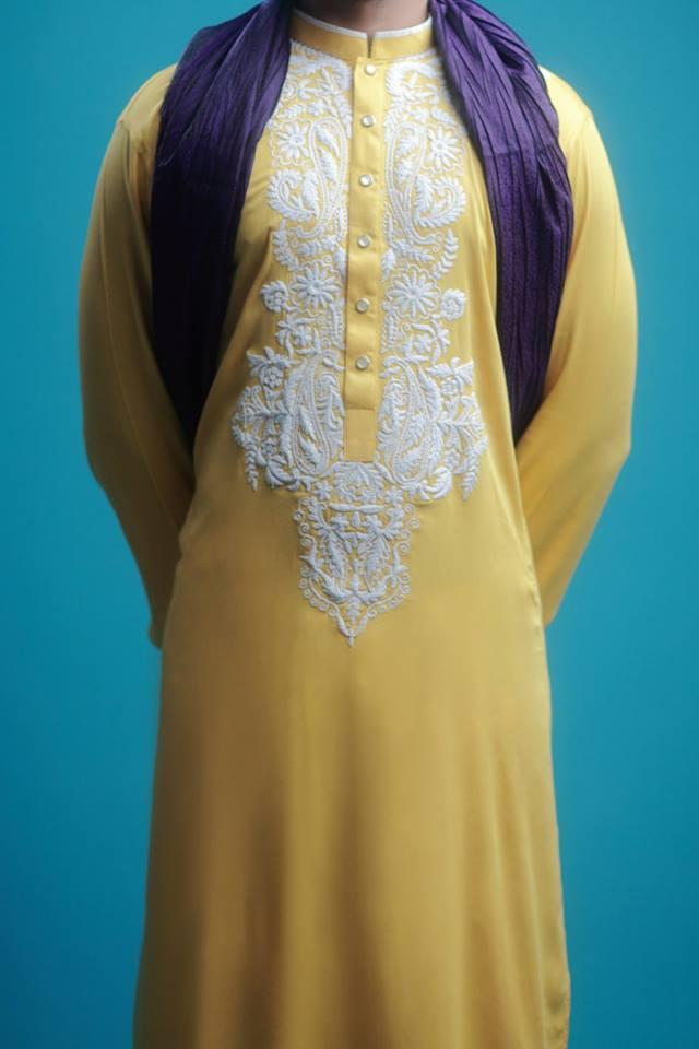 Colorful Men Kurta Designs For Eid Ul Fitr By Arsalan Iqbal 2015