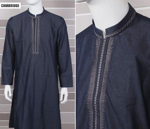 Eid Kurta Plain Designs For Men By Cambridge 2015 5