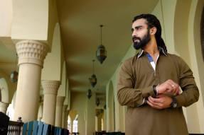 Eid Wear Casual Men Kurta Designs By Arslan Iqbal 2015 4