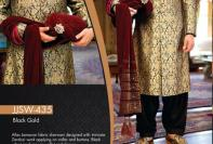 Jamawar Sherwani Designs For Groom By Junaid Jamshed 2015