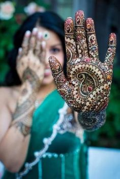 black brown mehndi