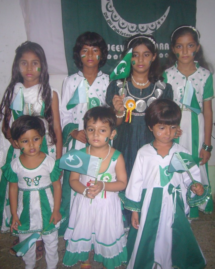 green white frocks