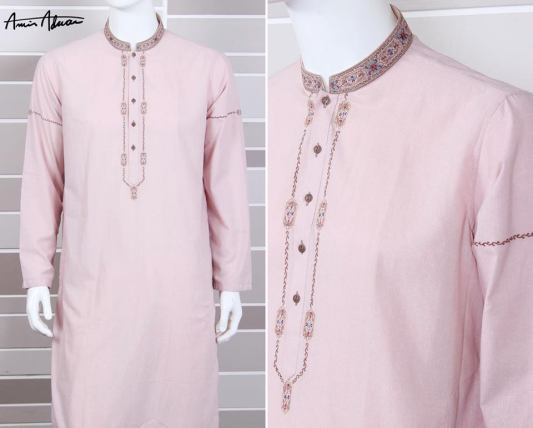 Mid Summer Kurta Designs For Men By Amir Adnan 2015 18