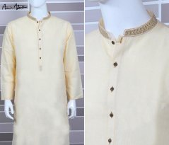 Mid Summer Kurta Designs For Men By Amir Adnan 2015 4