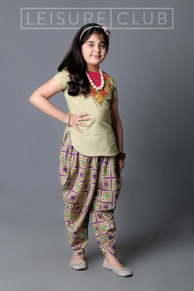 short kurti with patiala