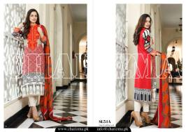 Embroidered Linen Eid Wear Dresses By Charizma 2015-16 3