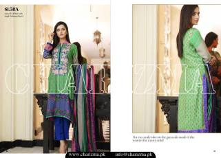 Embroidered Linen Eid Wear Dresses By Charizma 2015-16 5