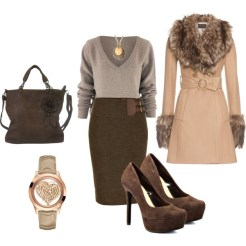 Fall Formal Outfits Polyvore Combos For Business Women 2015-16