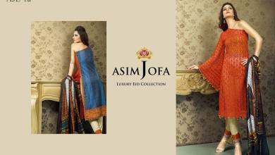 Luxury Pret Eid Dresses By Asim Jofa 2015-16