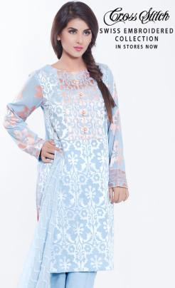 Swiss Embroidered Eid Wear By Cross Stitch 2015-16 5