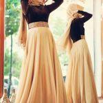 Winter Maxi Dresses With Hijab Fashion Trend 2015-16 3