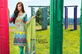 Embroidered Cotton Polyester Shalwar Kameez By Khaadi 2015 13