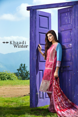 Embroidered Cotton Polyester Shalwar Kameez By Khaadi 2015 15