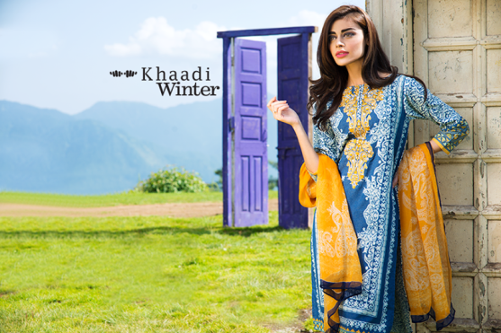 Embroidered Cotton Polyester Shalwar Kameez By Khaadi 2015 4
