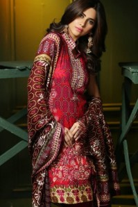 Embroidered Linen Fall Dresses By Rajbari 2015-16 2