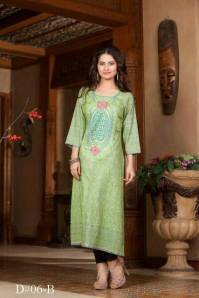 Embroidered Prints Long Shirts By Moon Textiles 2015 5