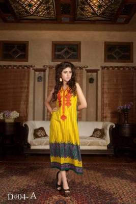 Embroidered Prints Long Shirts By Moon Textiles 2015