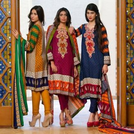 Linen Embroidered Winter Collection By Ittehad 2015-16 17