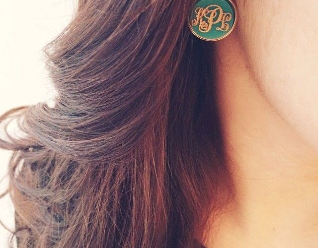 Monogram Earring Jewellery Ideas For Women