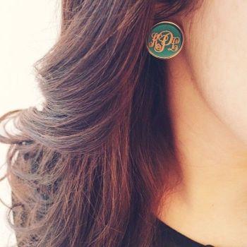 Monogram Earring Jewellery Ideas For Women