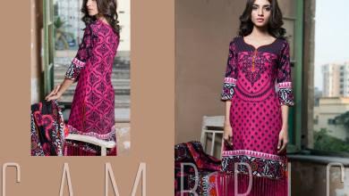 Printed Cambric Shirts Dresses By Al Zohaib 2015-16
