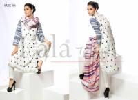white doted prints on kurti