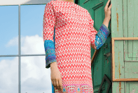 Two Piece Embroidered Polyester Kameez By Khaadi 2015