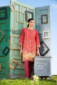 Two Piece Embroidered Polyester Kameez By Khaadi 2015 2