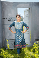 Two Piece Embroidered Polyester Kameez By Khaadi 2015 6