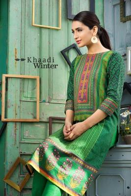 Two Piece Embroidered Polyester Kameez By Khaadi 2015 7